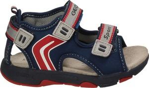 Buty dziecięce letnie Geox z zamszu na rzepy