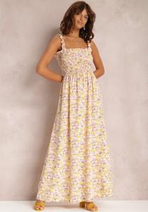 Sukienka Renee z dekoltem w kształcie litery v maxi trapezowa