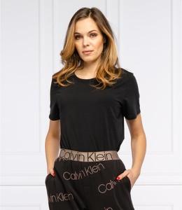Czarna bluzka Calvin Klein Underwear w stylu casual z bawełny