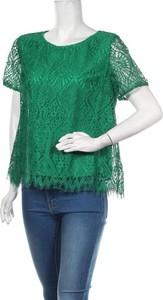 Zielona bluzka Frnch z okrągłym dekoltem