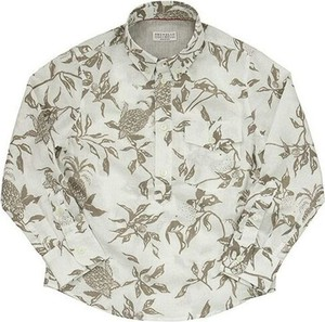 Brązowa koszula dziecięca Brunello Cucinelli