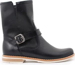 Czarne botki zapato w stylu casual