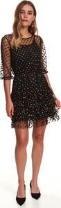 Sukienka Top Secret z okrągłym dekoltem z tiulu