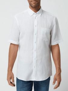 Koszula Christian Berg z krótkim rękawem z lnu