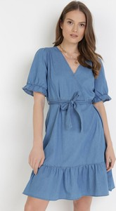Sukienka born2be z krótkim rękawem w stylu casual mini
