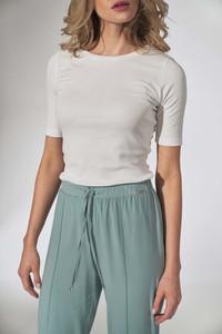 Bluzka Figl z krótkim rękawem z okrągłym dekoltem w stylu casual