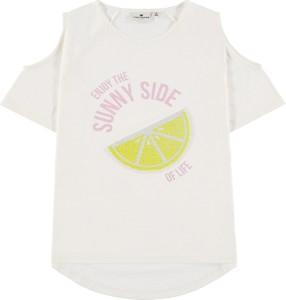 Koszulka dziecięca Tom Tailor dla dziewczynek z bawełny z krótkim rękawem