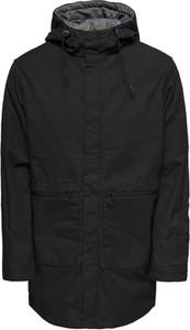 Czarna kurtka Only & Sons w stylu casual