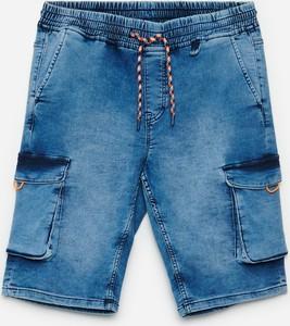 Niebieskie spodenki Cropp z jeansu