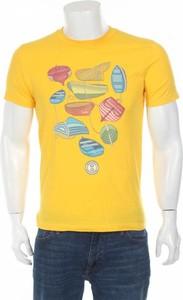 Żółty t-shirt 10x10 Anitaliantheory z krótkim rękawem
