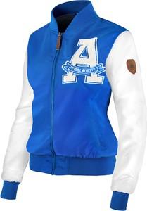 Niebieska kurtka Pit Bull w sportowym stylu ze skóry