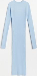Sukienka Reserved z długim rękawem z dresówki