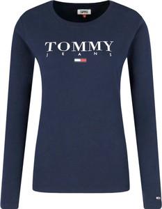 Bluzka Tommy Jeans z okrągłym dekoltem