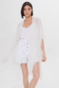 Mohito - Ponczo z ażurowym wzorem - Biały