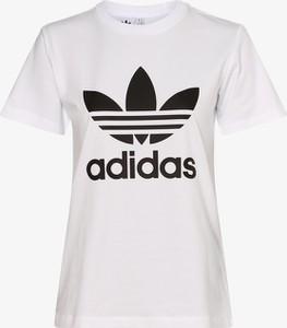 T-shirt Adidas Originals z dżerseju z okrągłym dekoltem