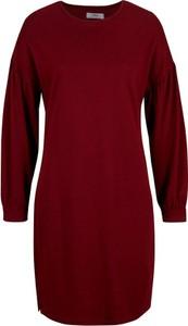 Czerwona sukienka bonprix z dresówki mini