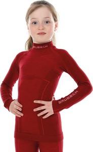Czerwona koszulka dziecięca Brubeck z wełny