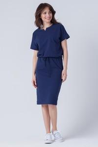 Granatowa sukienka butik-choice.pl midi