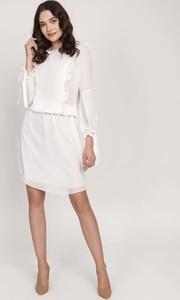 Sukienka Lanti mini z okrągłym dekoltem