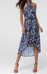 Sukienka Trendyol asymetryczna z dekoltem halter bez rękawów