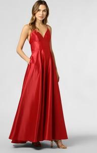 Czerwona sukienka Marie Lund maxi z satyny
