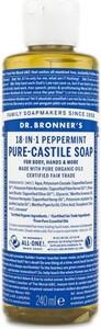 Dr. Bronner`s Dr. Bronner's Pure-Castile Liquid Soap Peppermint | Naturalne mydło w płynie 240ml - Wysyłka w 24H!