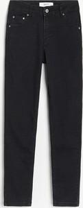 Czarne jeansy Reserved w stylu casual
