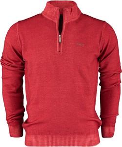 Czerwony sweter New Zealand Auckland z wełny w stylu casual