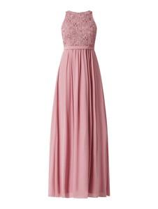 Różowa sukienka Jake*s z okrągłym dekoltem z szyfonu trapezowa