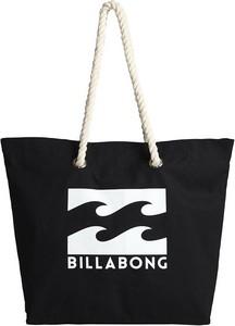 Czarna torebka Billabong w wakacyjnym stylu duża matowa