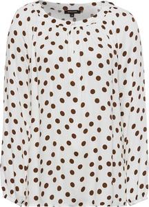 Bluzka More & More w stylu casual z okrągłym dekoltem z długim rękawem