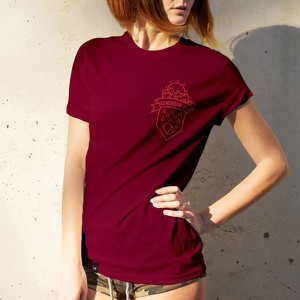 T-shirt Szwendam Się z żakardu z okrągłym dekoltem z krótkim rękawem