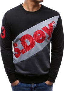 Dstreet bluza męska z nadrukiem czarna (bx3456)