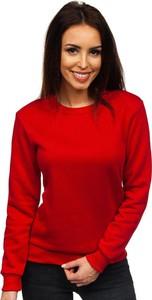 Czerwona bluza Denley z bawełny