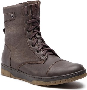 Buty zimowe Gino Rossi w militarnym stylu z nubuku