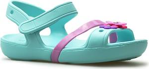 Niebieskie buty dziecięce letnie Crocs na rzepy