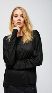 Czarna bluzka Moodo z długim rękawem