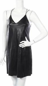 Czarna sukienka Miss Selfridge na ramiączkach z dekoltem w kształcie litery v mini