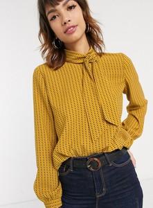 Brązowa bluzka Esprit z długim rękawem