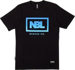 Czarny t-shirt New Bad Line w młodzieżowym stylu