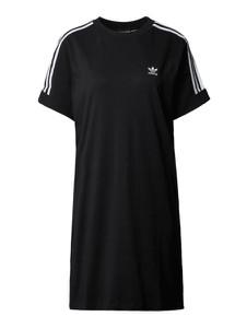 Czarna sukienka Adidas Originals z okrągłym dekoltem z bawełny