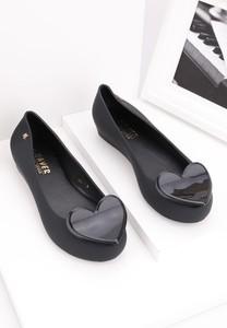 Baleriny Yourshoes z płaską podeszwą w stylu casual