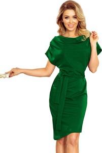 Sukienka NUMOCO z krótkim rękawem asymetryczna z bawełny