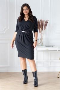Czarna sukienka Sklep XL-ka wyszczuplająca