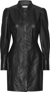 Czarna sukienka Custommade z długim rękawem mini