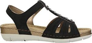Czarne sandały Inblu w stylu casual