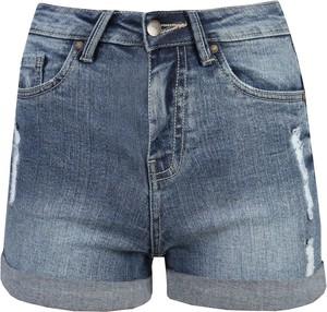 Niebieskie szorty Top Secret z jeansu w stylu casual