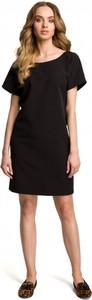 Czarna sukienka MOE mini z krótkim rękawem
