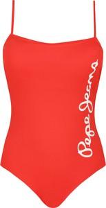 Czerwony strój kąpielowy Pepe Jeans w sportowym stylu