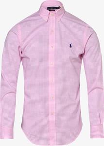 Różowa koszula POLO RALPH LAUREN z długim rękawem w stylu casual